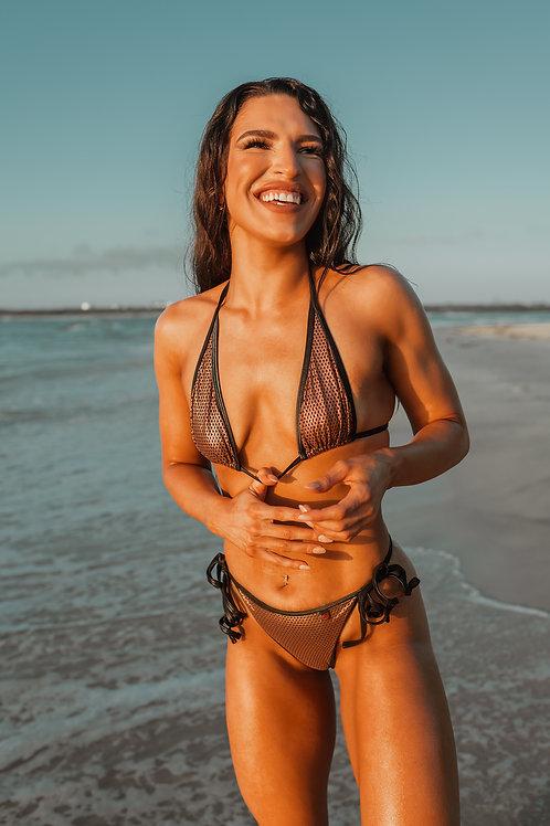 MissManeater #WARRIOR  mesh sliding TRItop + HIcut thong boutique bikini set