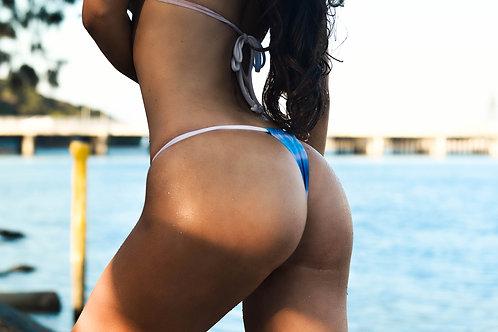 MissManeater #SHARKskin REEFknot sliding waist strap thong boutique bikini pant
