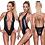Thumbnail: MissManeater #heavyMETAL deepV front high cut scrunch designer swimsuit
