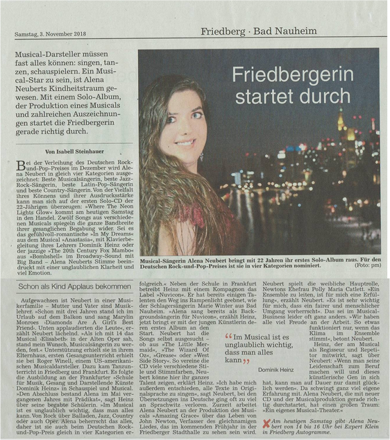 Wetterauer Zeitung 3.11.2018