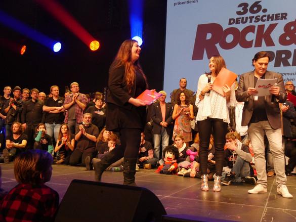 Beim Deutschen Rock & Pop Preis 2018