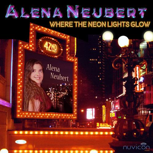 "CD ""Where The Neon Lights Glow"" Alena Neubert & signierte Autogrammkarte"