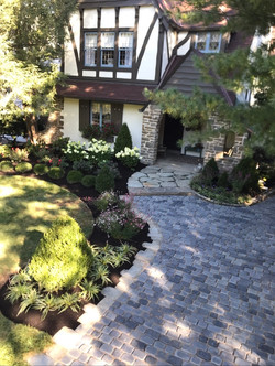 Landscaping, paver driveway