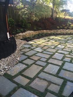 back yard stone work