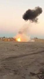 Video of explosive target practice