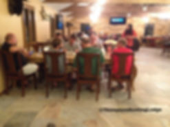 Guest dining in the lodge, at Thompson Hunting lodge