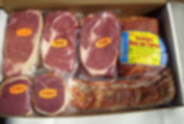 Assorted, deer, hog, and elk meat from Uvalde meat processing.