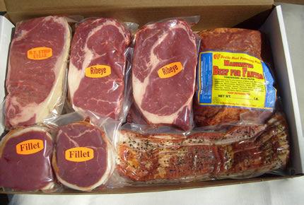 Assorted, deer, hog, and elk meat from Uvalde meat processing.