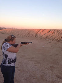 target practice at the range you go girl