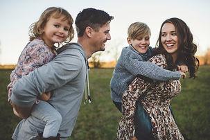 Happy Family Piggybacking