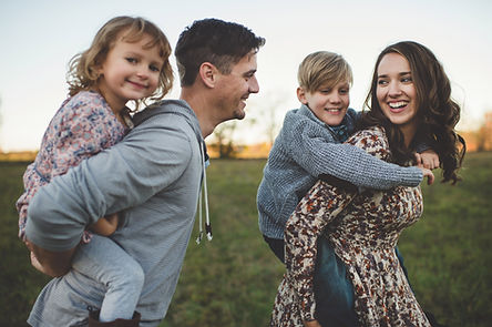 Familia sonriente
