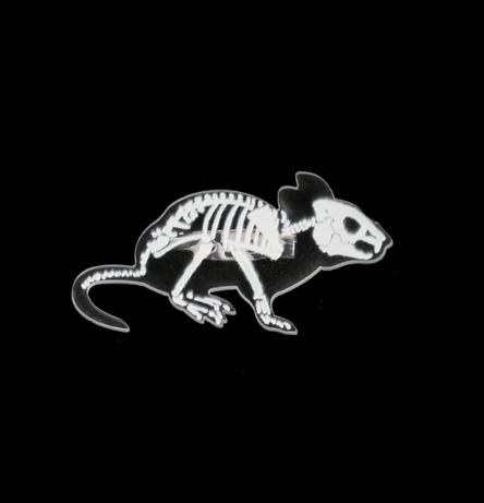 Rat Skeleton Pin