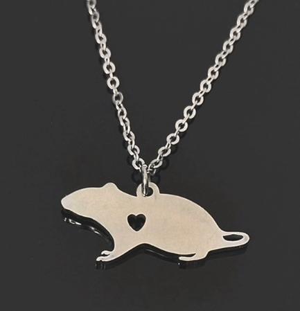 Rat Charm Necklace