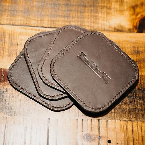Kenya Leather Coaster (set of 4)