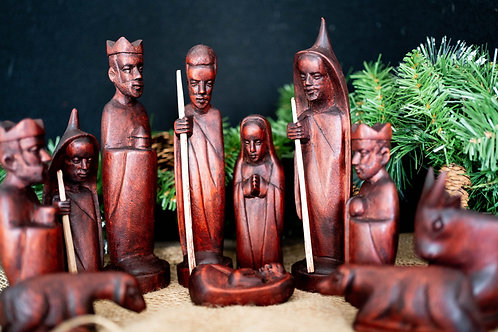 11 Piece Kenya Nativity Set