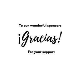 To our wonderful sponsors