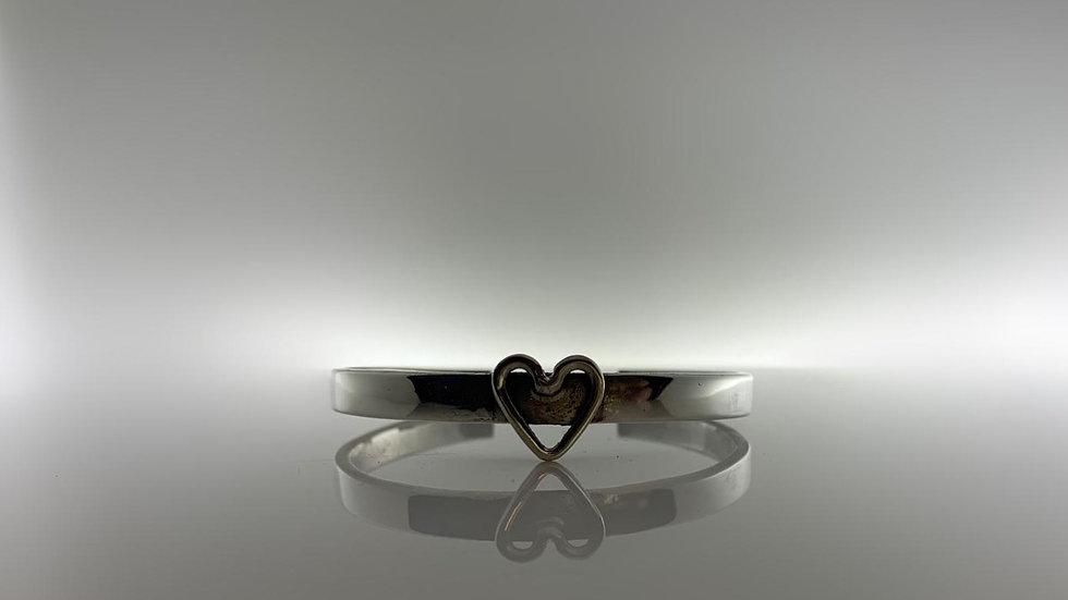 Handmade 925 Silver Heart Bangle