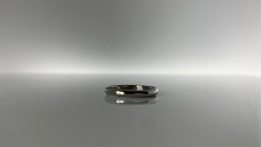 2mm Platinum court wedding rings.