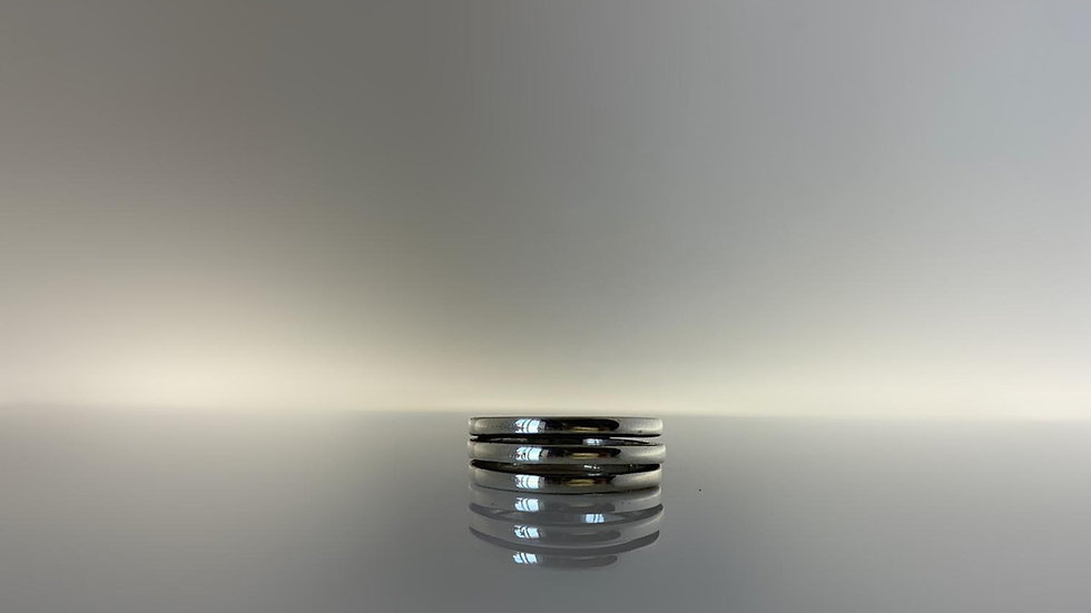 Handmade 925 Silver Triple Stack Ring