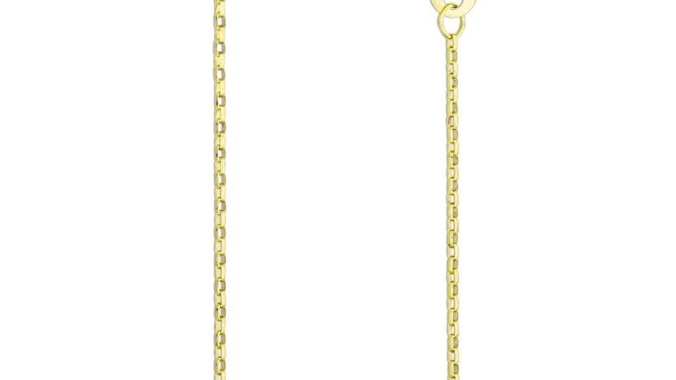 Solid 1mm Diamond Cut 9ct Yellow Gold Belcher Chain