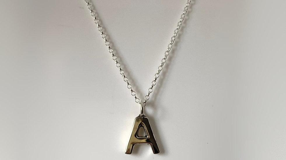 Handmade 925 Silver Initial Pendant
