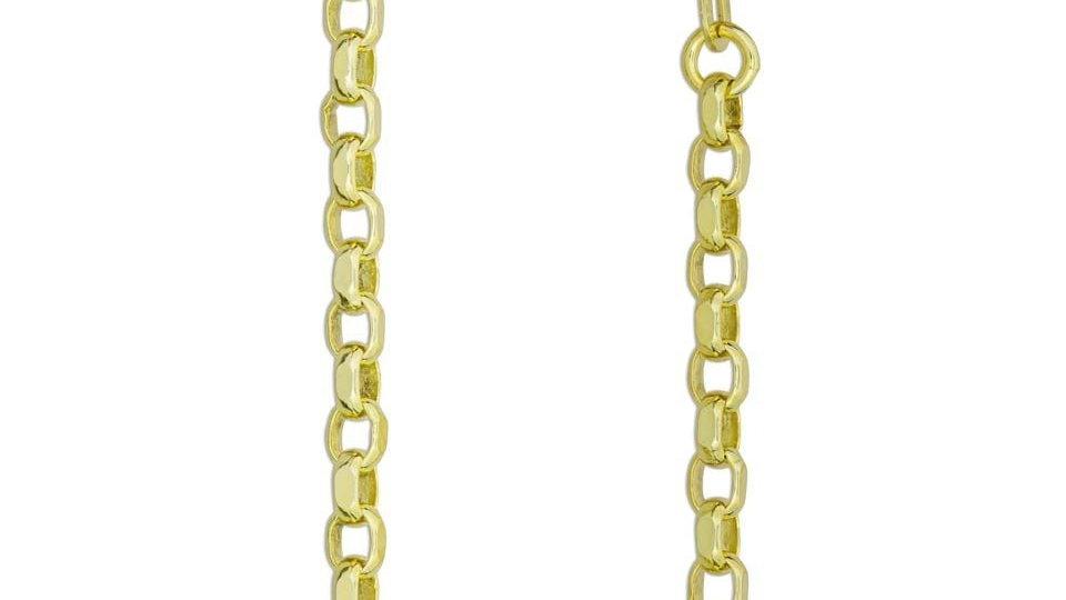 Solid 3mm 9ct Yellow Gold Diamond Cut Belcher Chain