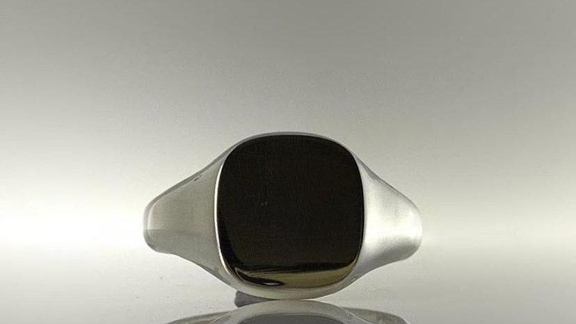 Handmade Heavy Weight 925 Square signet Ring