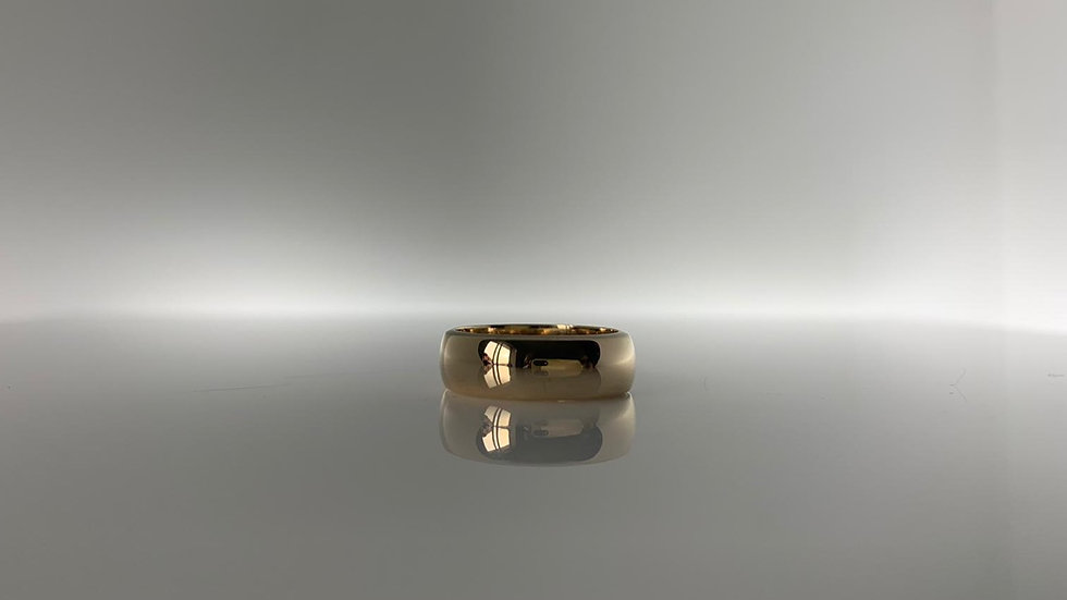 5mm 9ct Yellow Gold D-Shape Wedding Ring