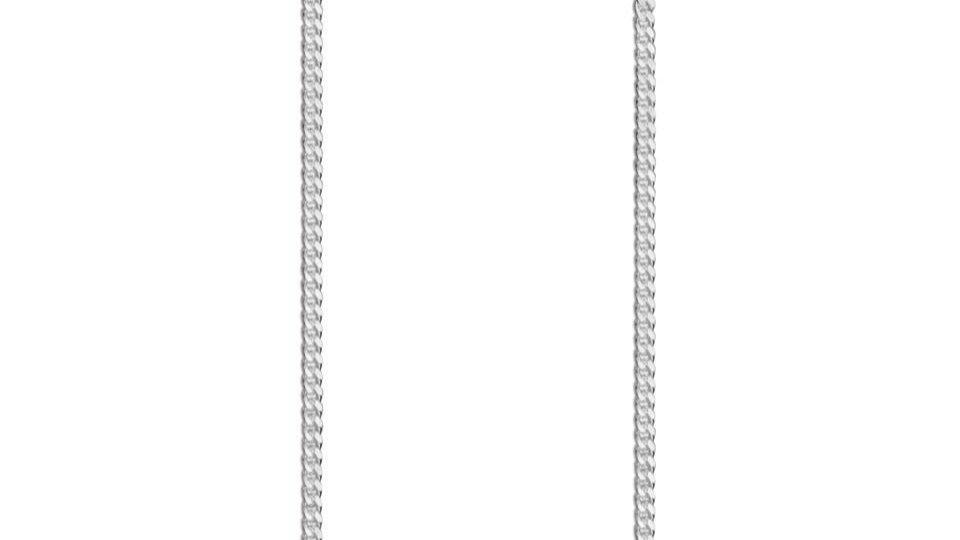 1mm 925 Silver Curb Chain