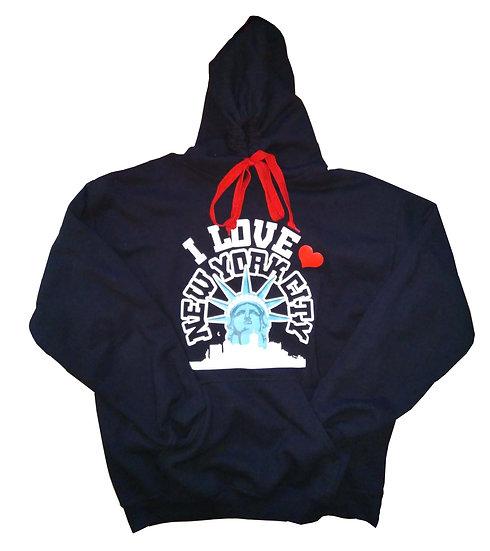I Love New York City Black Hoodie