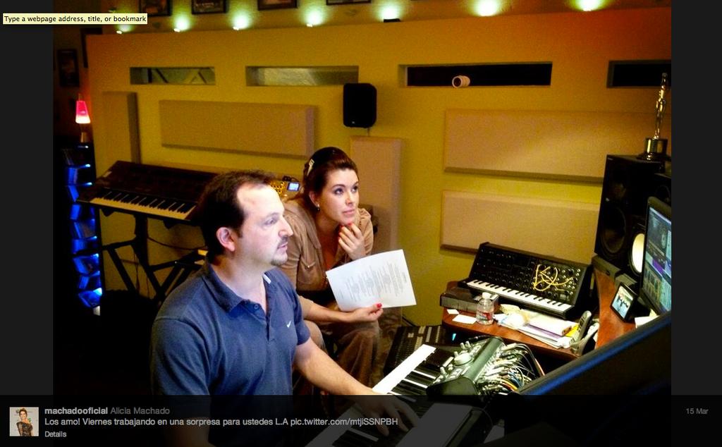 Alicia Machado - Recording