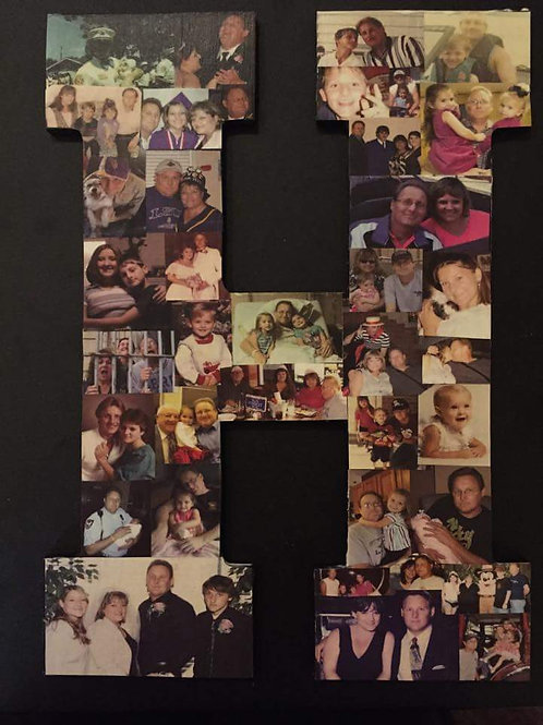 Personalized Color Letter Collage