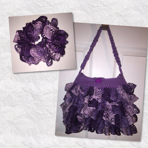 Purple Ruffled Purses
