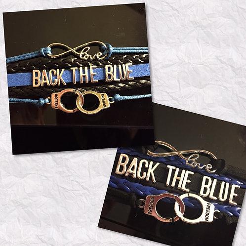 """""""Back The Blue"""" & more Police  Bracelet"""