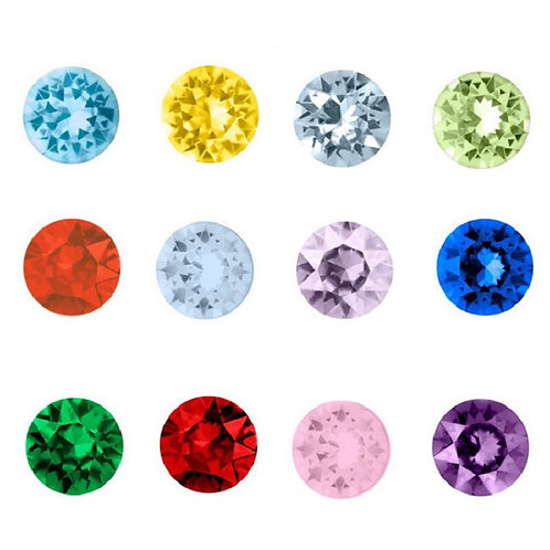 Floating Round Birthstone Charms