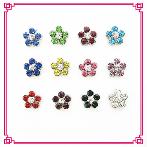 Floating Flower Birthstone Charms