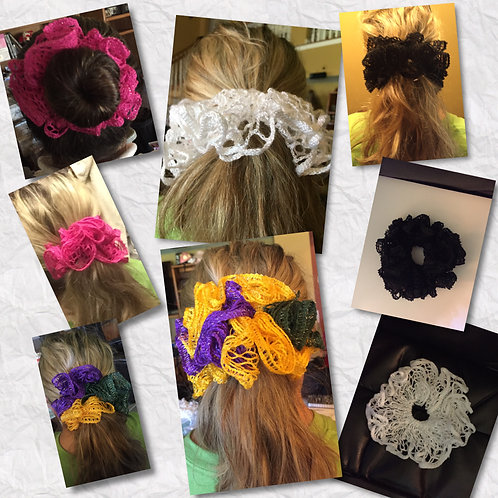 Ruffled Elastic Hair Scrunchies