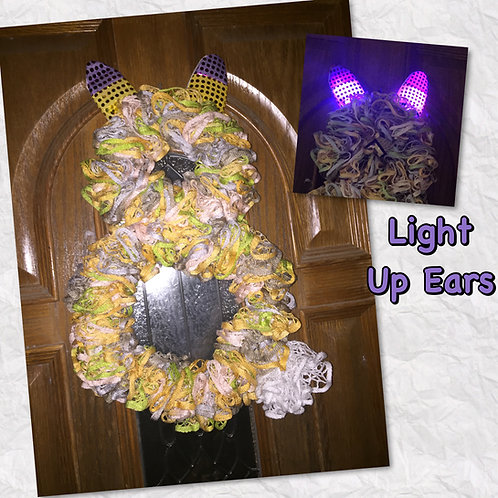 Bunny Light Up Easter Scarf Wreath