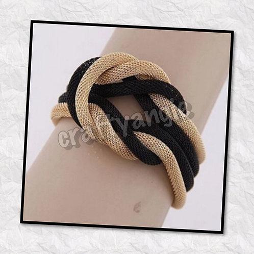Black & Gold Mesh Bracelet