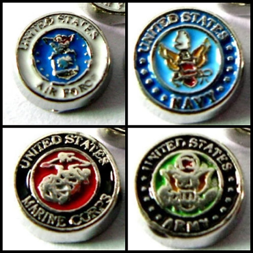 Military Floating Charms
