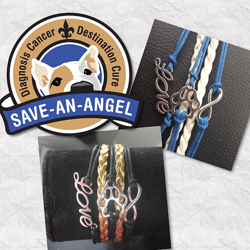 Save-An-Angel Rescue Paw Fundraiser Bracelets
