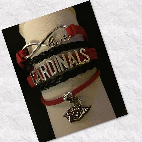 Red & Black Cardinal Bracelet
