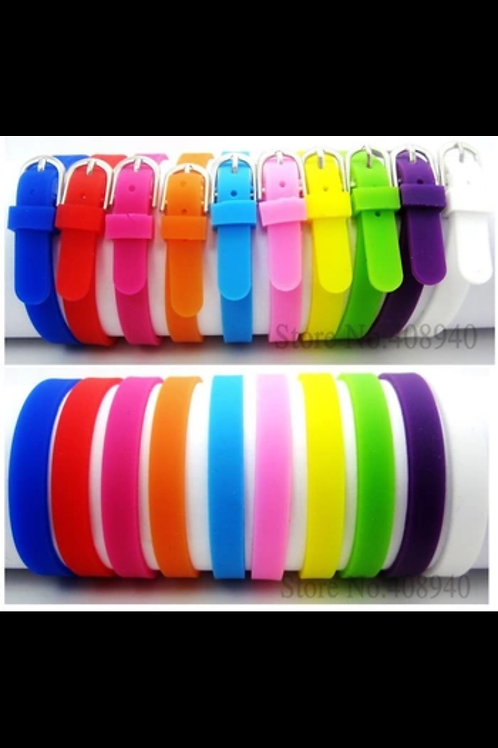 Slider Silicon (Rubber) Bracelets