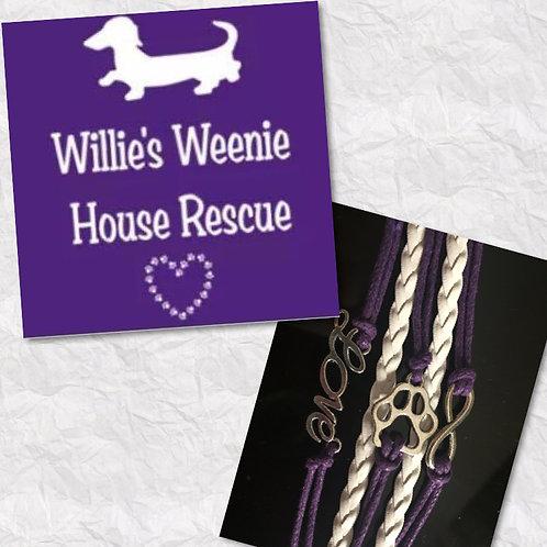 Willie's Weenie House Rescue Fundraiser Bracelets