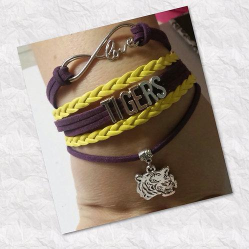 Purple & Yellow Tigers Bracelet