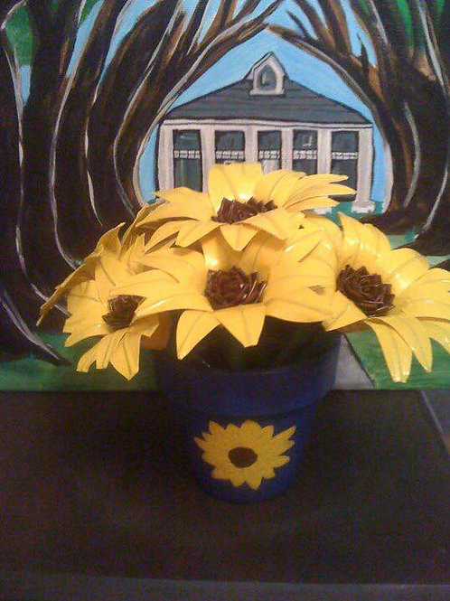 Duct Tape Sunflower