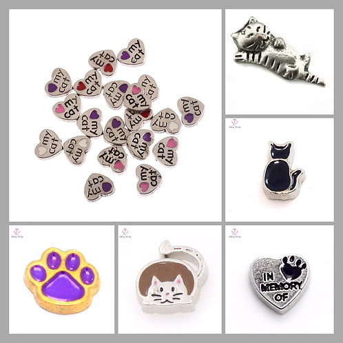 Floating Cat Charms