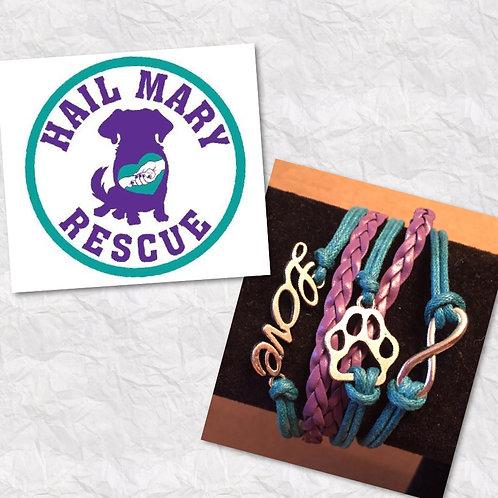 Hail Mary Rescue Fundraiser Paw Bracelets