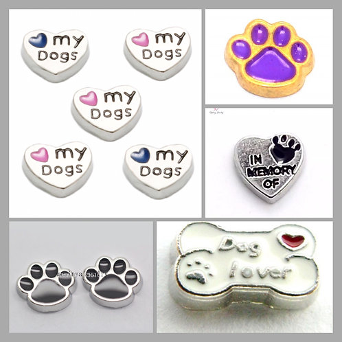 Floating Dog Lover Charms