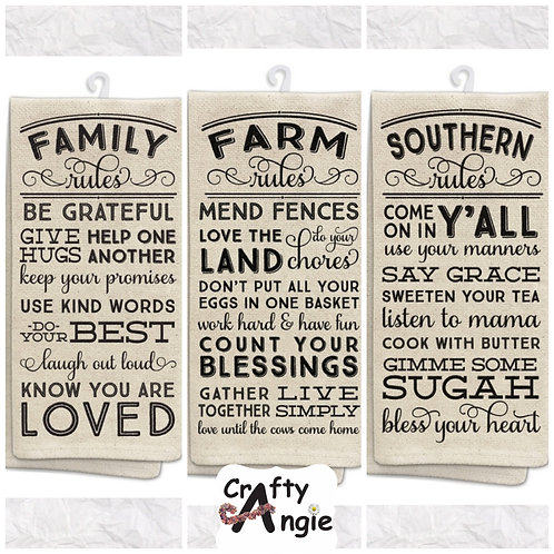 Family, Farm & Southern Tea Towels
